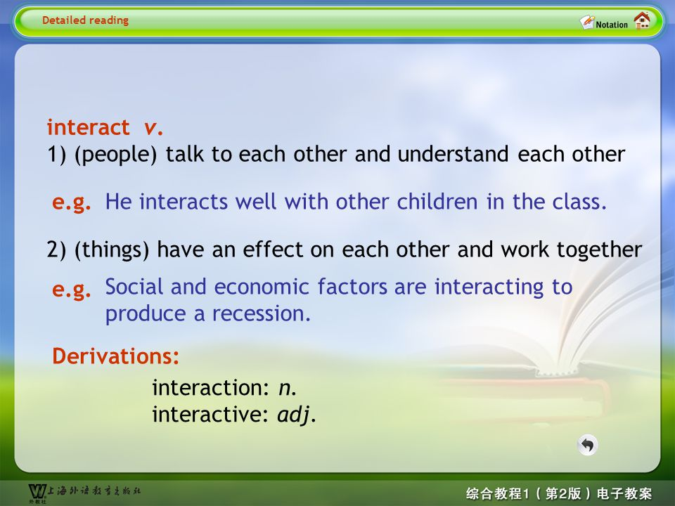 Detailed reading3-- interact