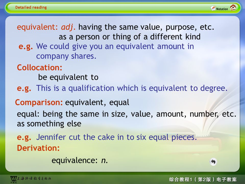 Detailed reading5-- equivalent