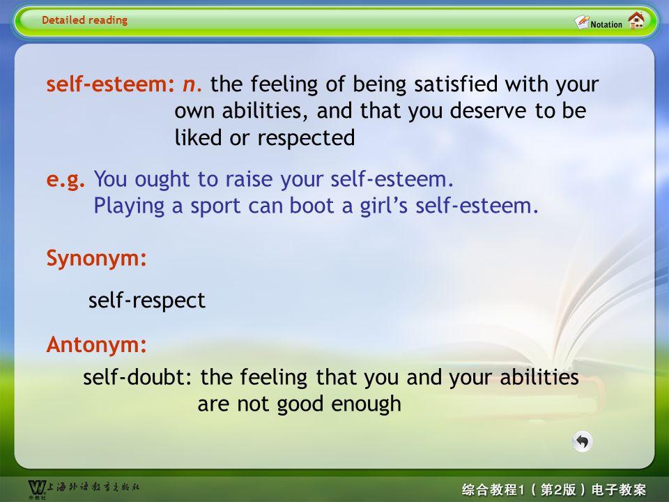 Detailed reading6- self-esteem
