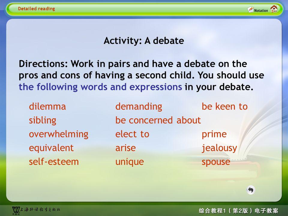 Activity Activity: A debate