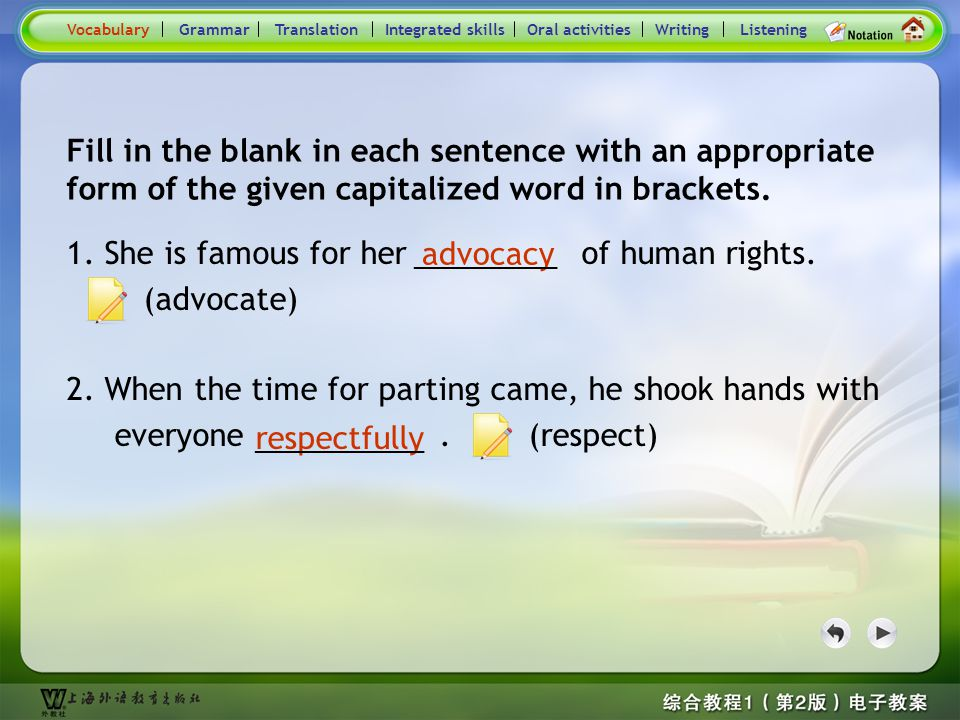 Consolidation Activities- Word derivation1