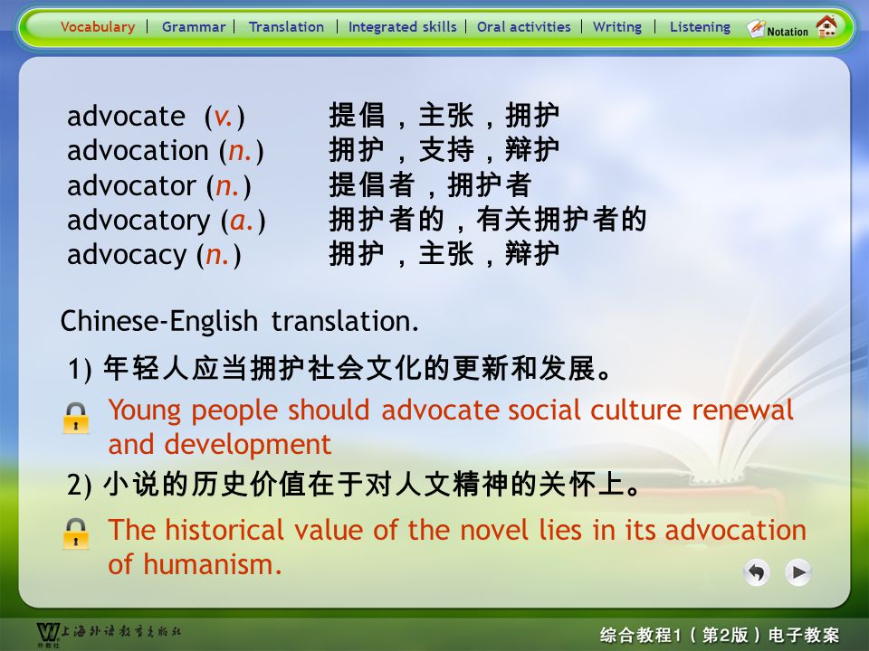 Consolidation Activities- Word derivation- advocate 1