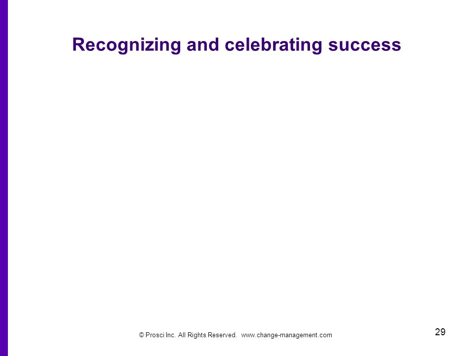 Recognizing and celebrating success