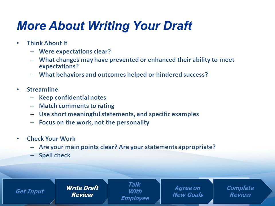 More About Writing Your Draft