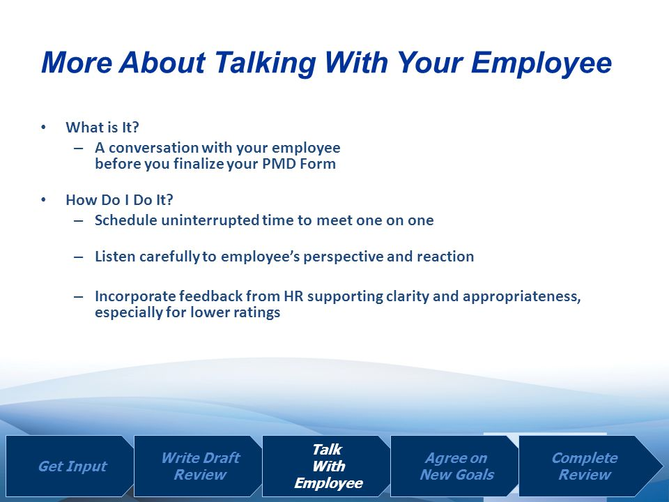 More About Talking With Your Employee