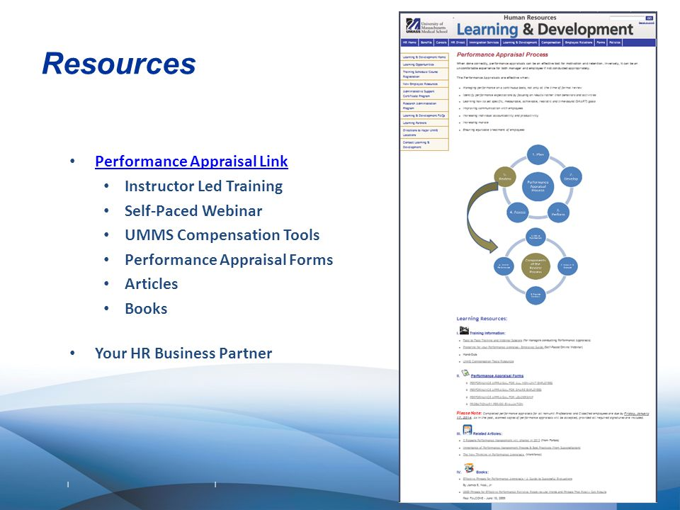 Resources Performance Appraisal Link Instructor Led Training