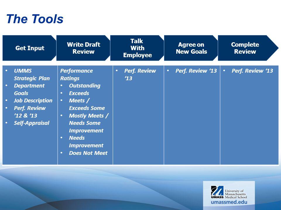 The Tools UMMS Strategic Plan Department Goals Job Description