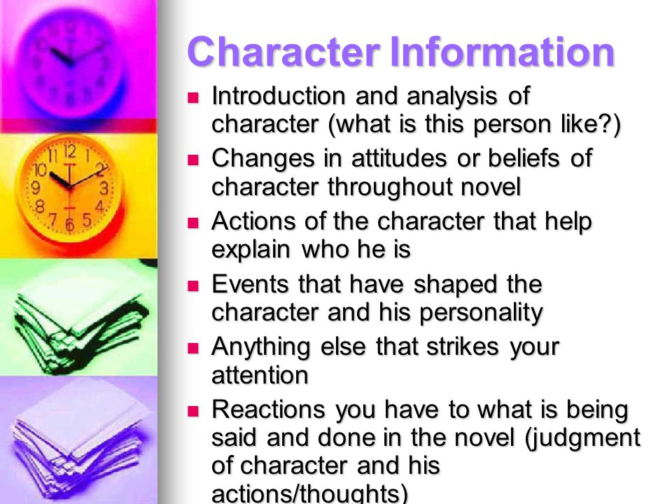 Character Information
