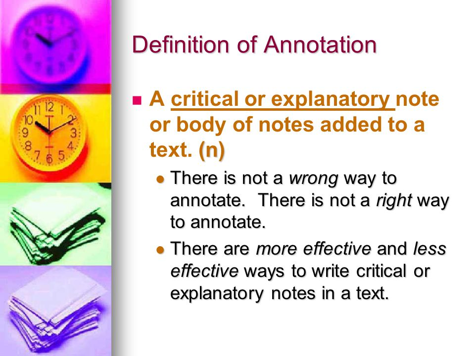 Definition of Annotation