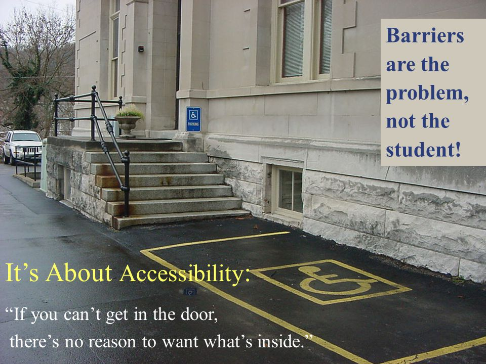 It's About Accessibility: