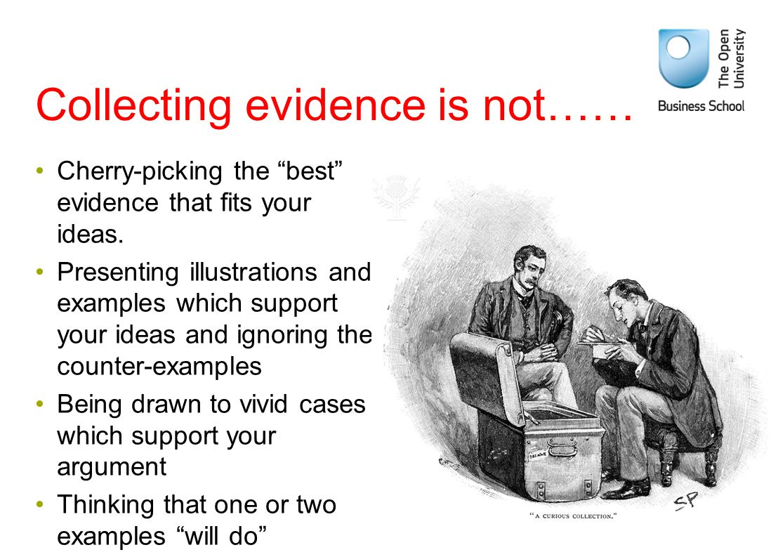Collecting evidence is not……