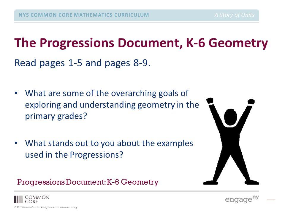 The Progressions Document, K-6 Geometry