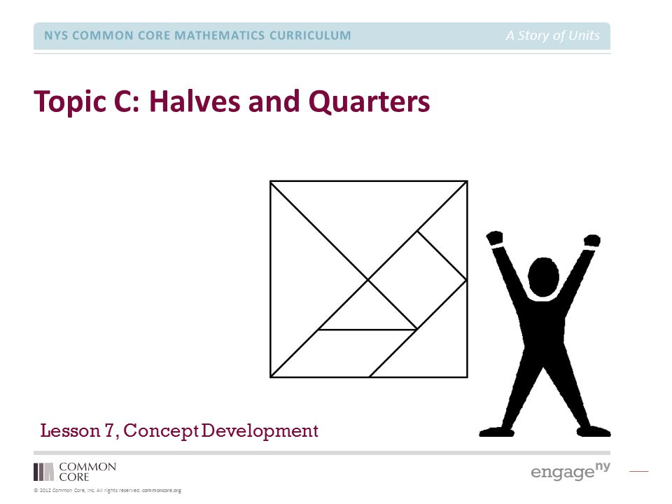 Topic C: Halves and Quarters