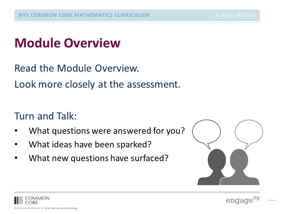 Grade 1 – Module 5 Module Focus Session