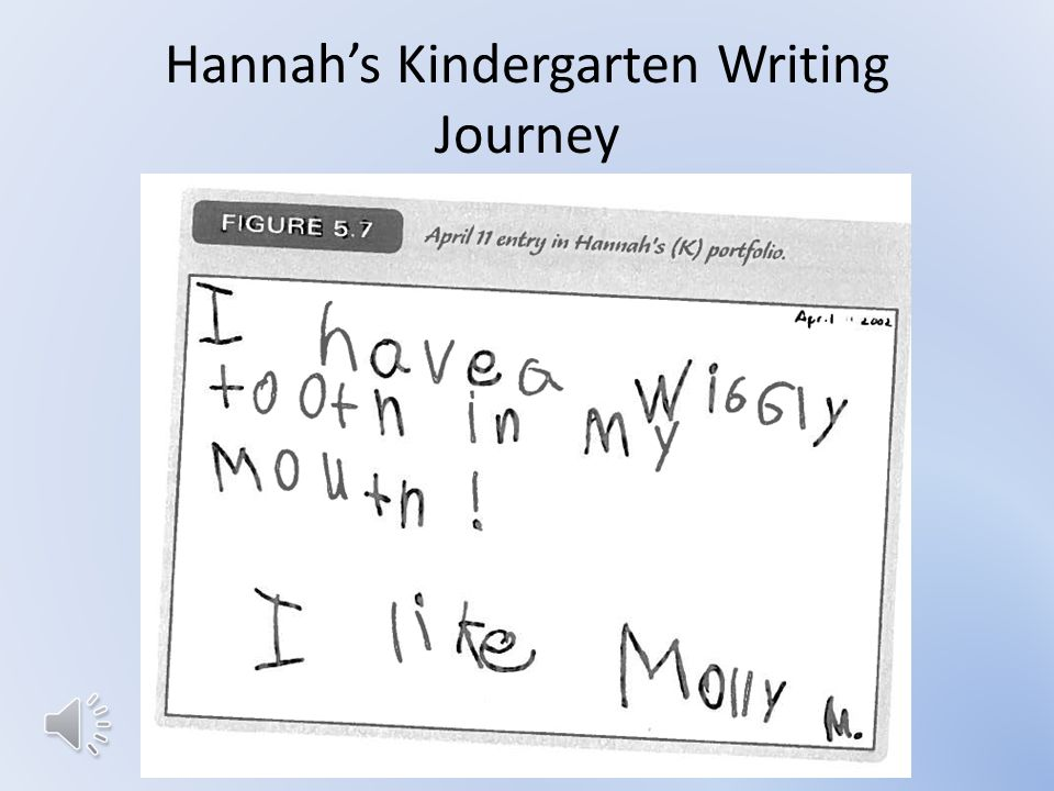 Hannah's Kindergarten Writing Journey