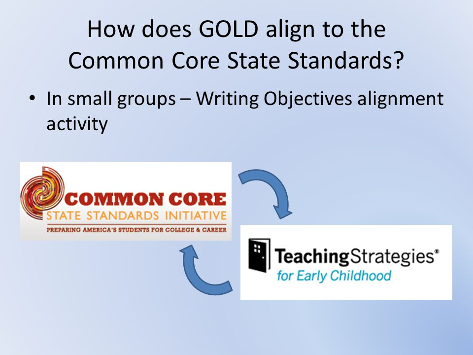 How does GOLD align to the Common Core State Standards