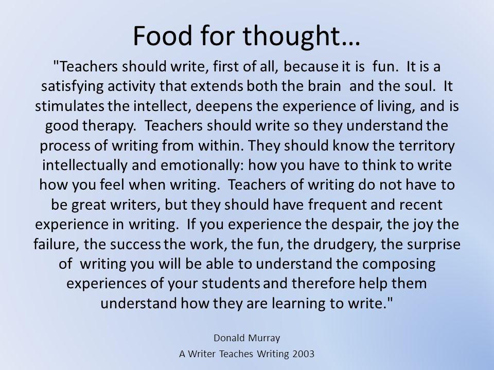 A Writer Teaches Writing 2003