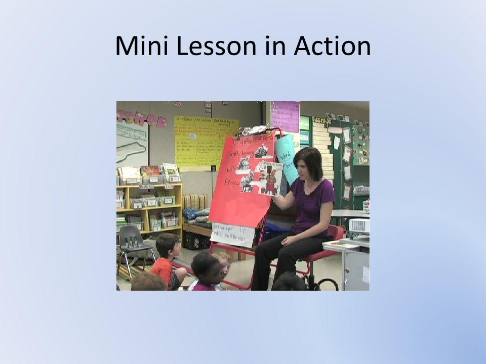 Mini Lesson in Action http://iwpnews.blogspot.com/2012/08/craft-in-kindergarten-example-mini.html