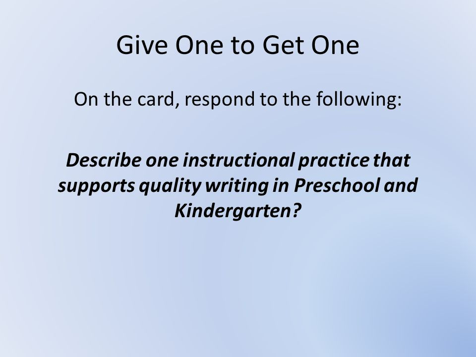 On the card, respond to the following: