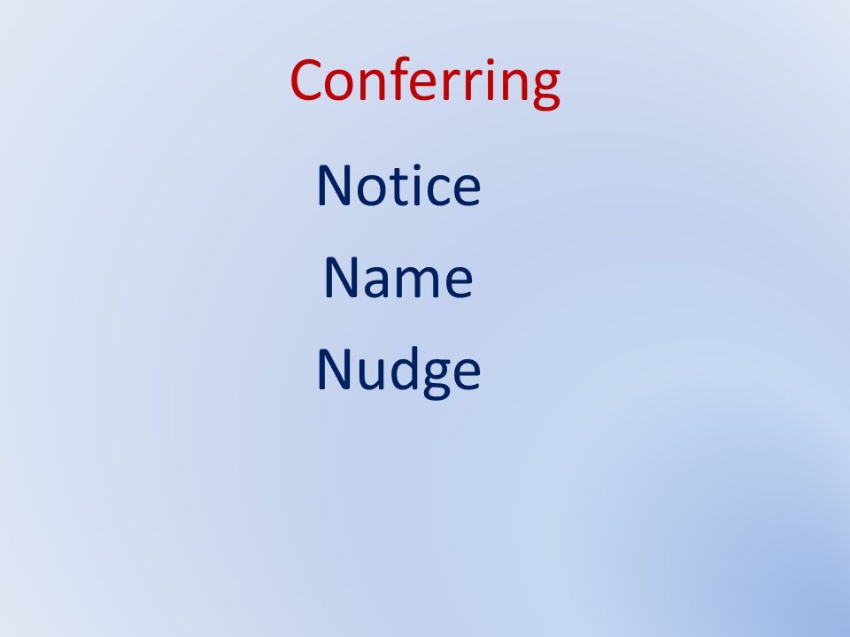Conferring Notice Name Nudge Agenda Item H