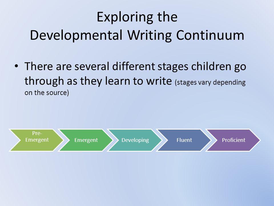 Exploring the Developmental Writing Continuum
