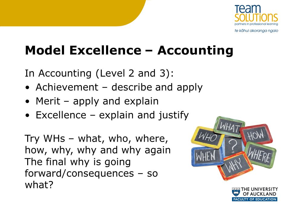 Model Excellence – Accounting