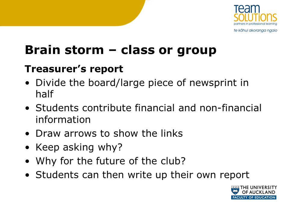 Brain storm – class or group