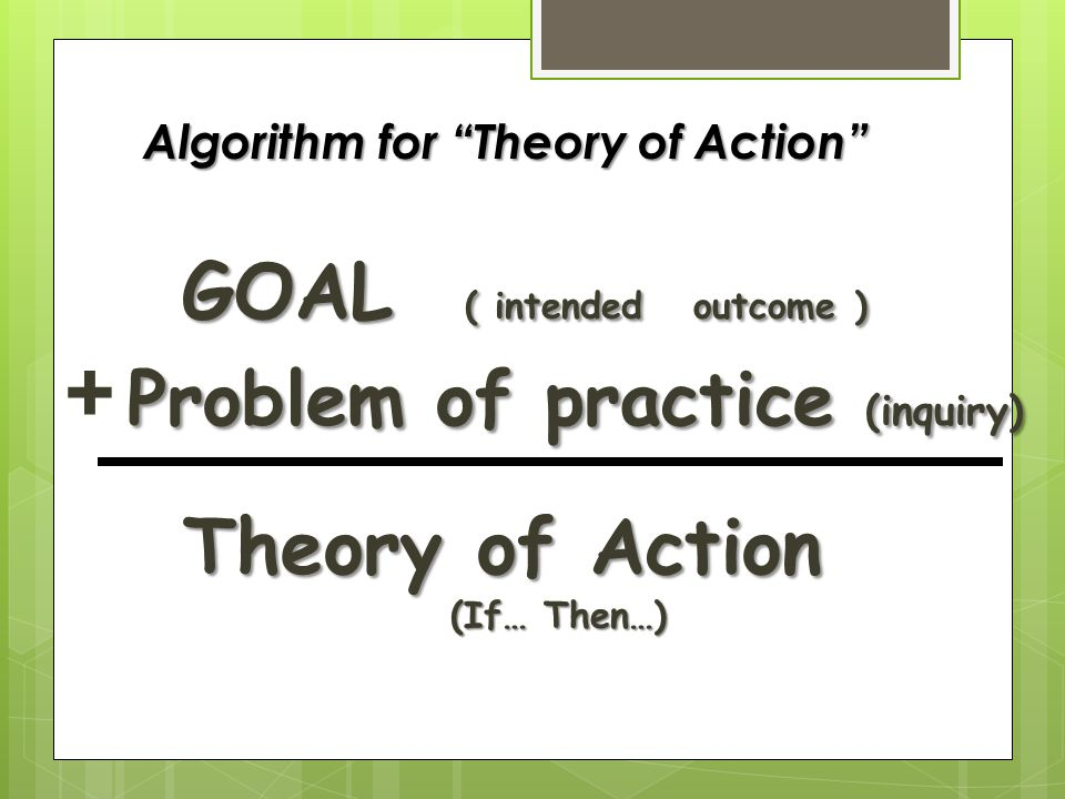 Algorithm for Theory of Action