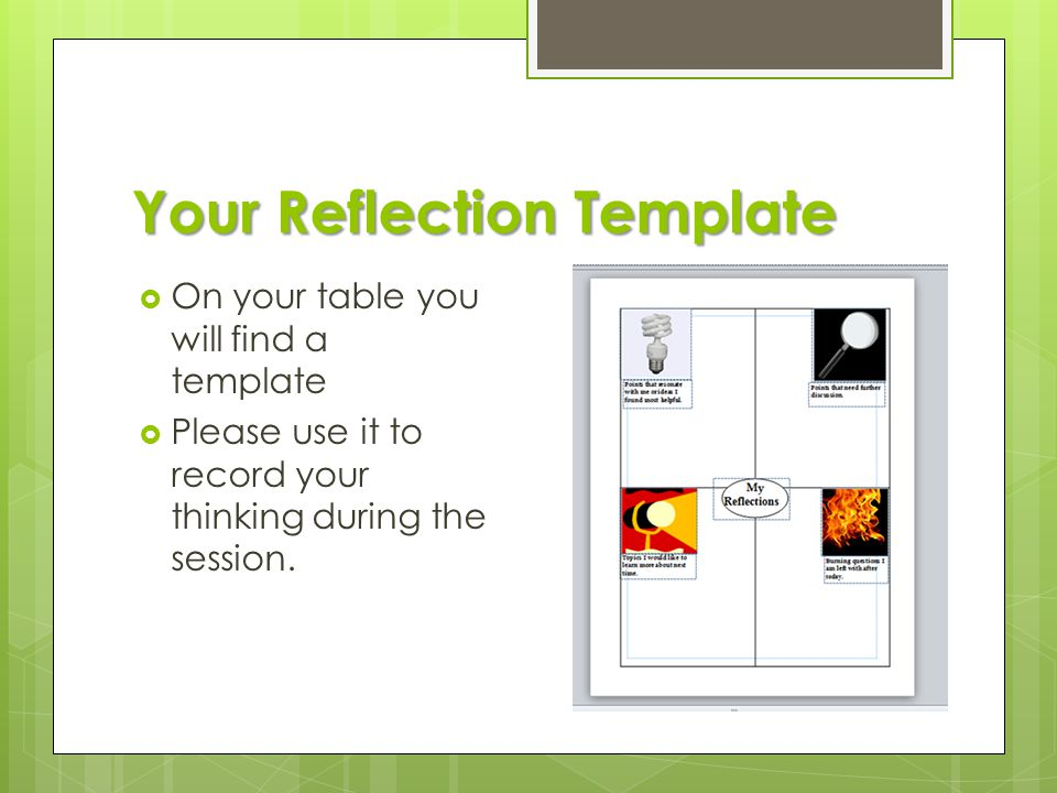 Your Reflection Template