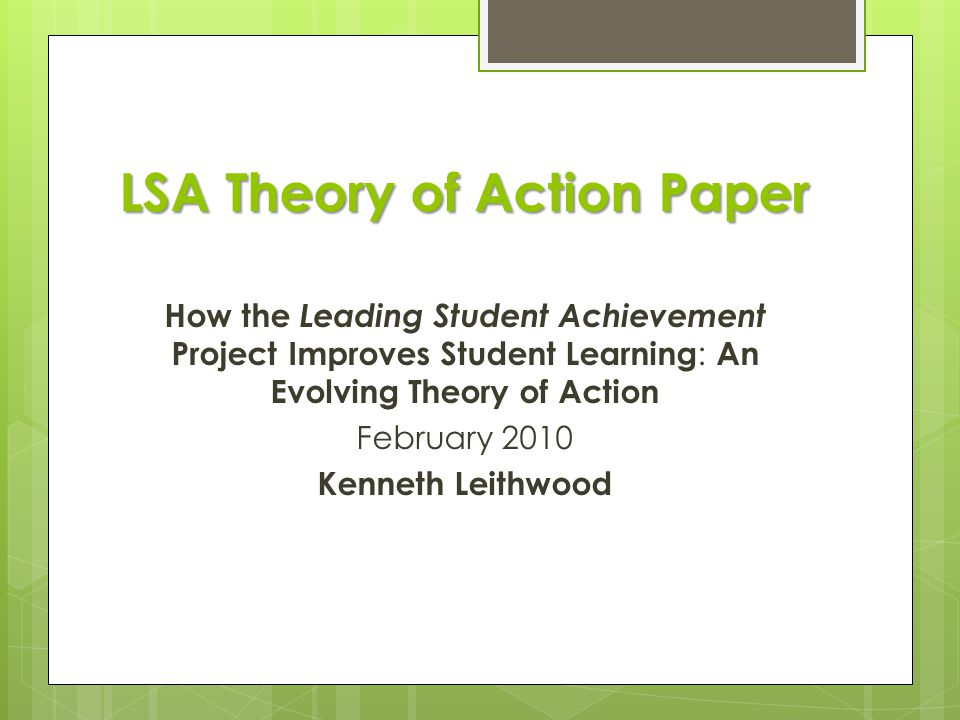 LSA Theory of Action Paper