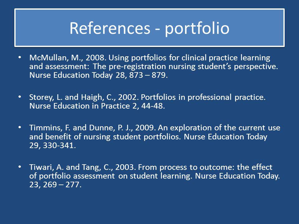 References - portfolio