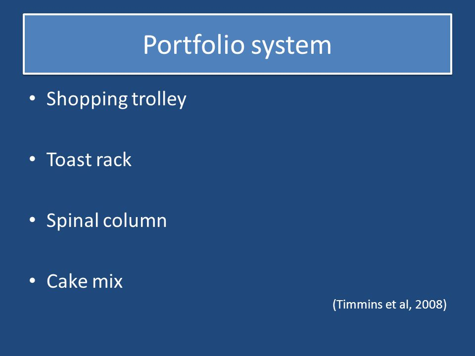 Portfolio system Shopping trolley Toast rack Spinal column Cake mix