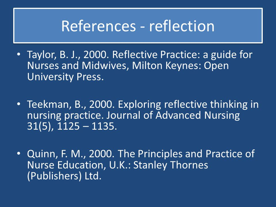 References - reflection
