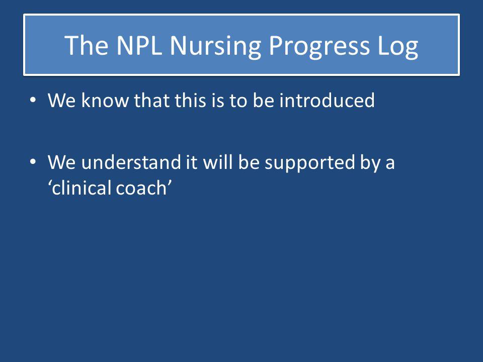 The NPL Nursing Progress Log