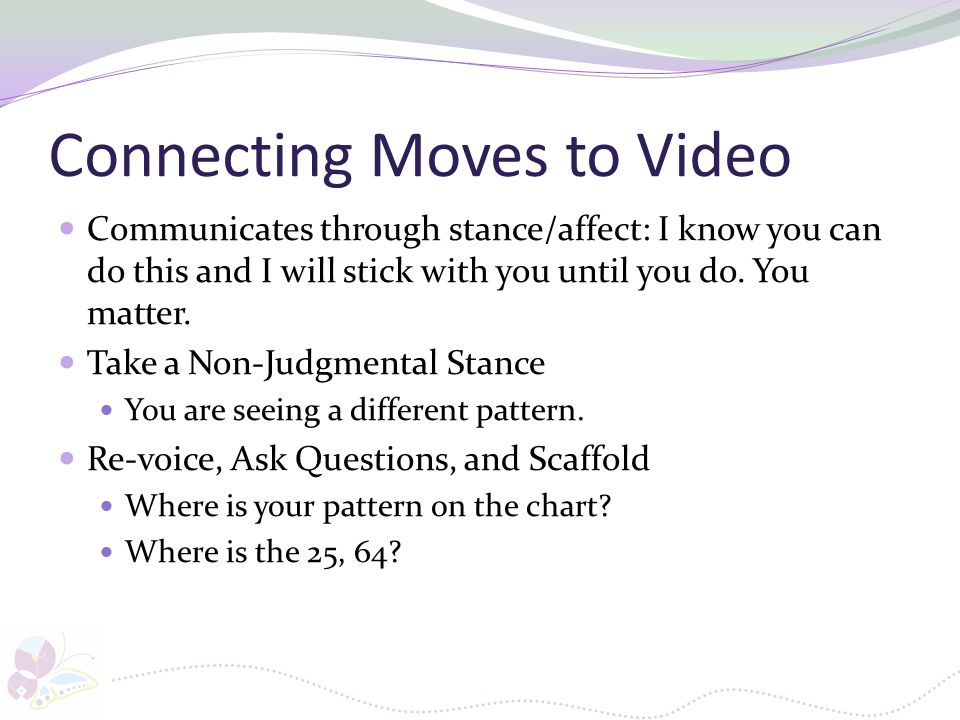 Connecting Moves to Video
