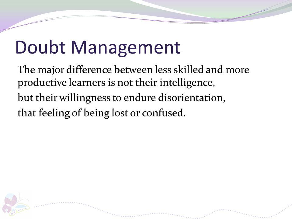 Doubt Management