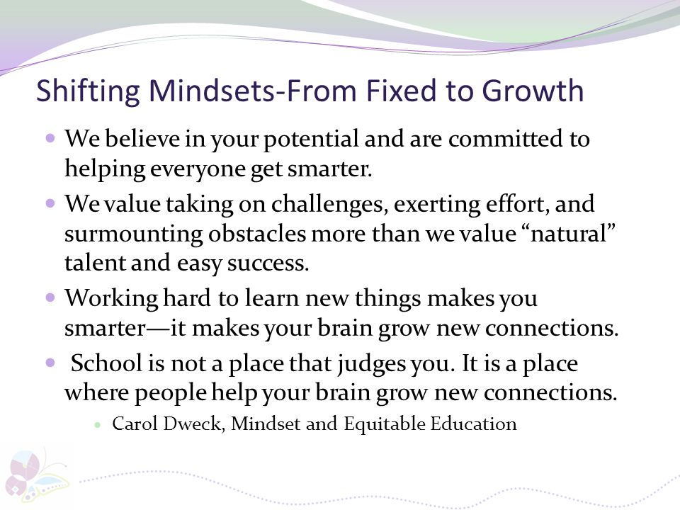 Shifting Mindsets-From Fixed to Growth