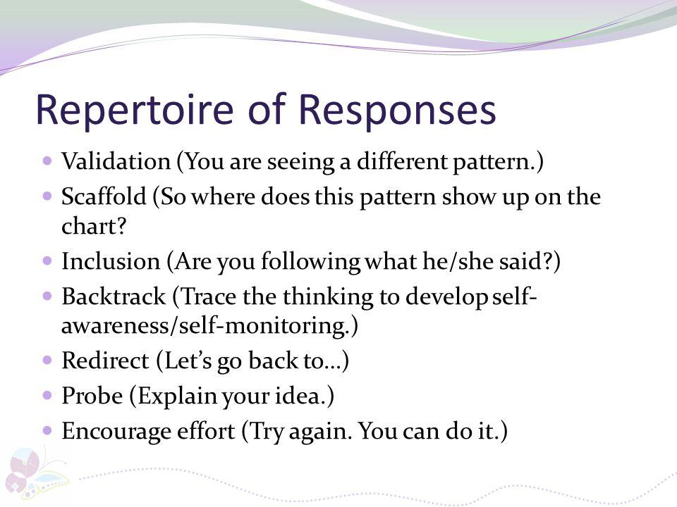 Repertoire of Responses