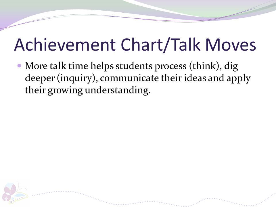 Achievement Chart/Talk Moves