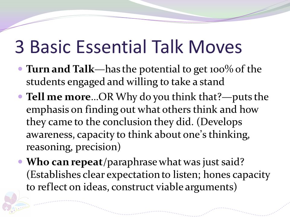 3 Basic Essential Talk Moves