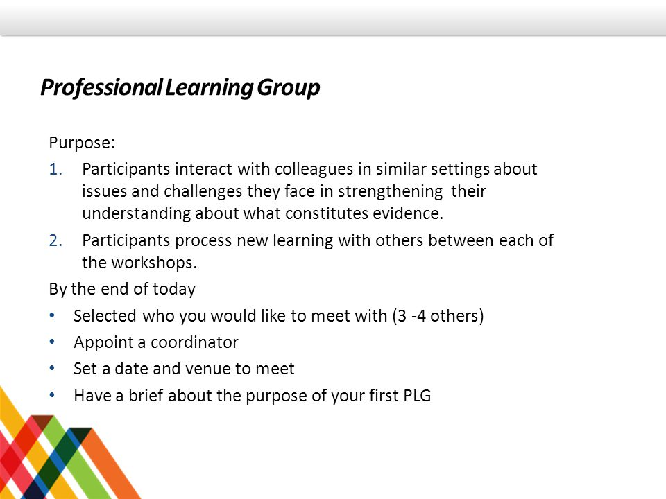Professional Learning Group