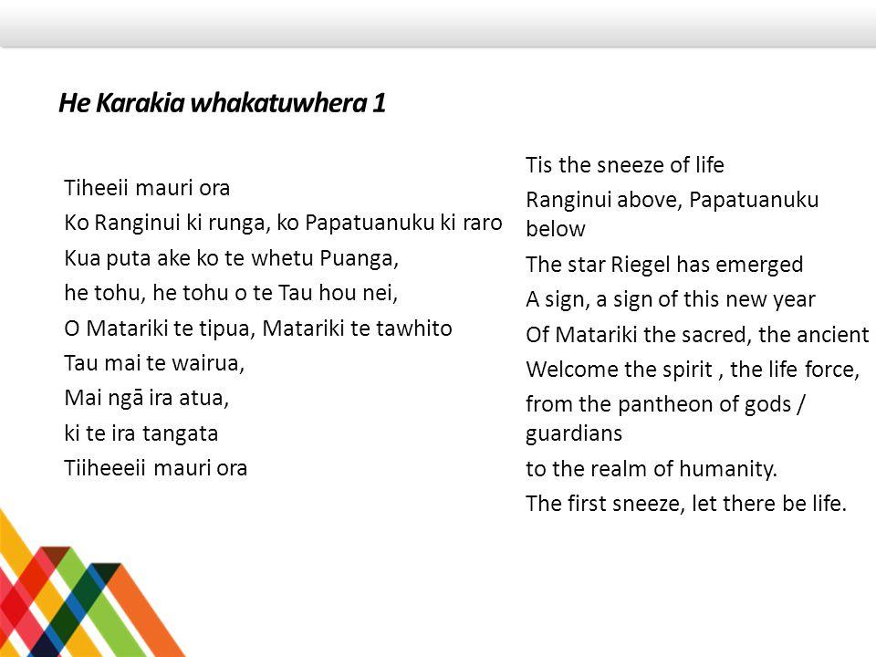He Karakia whakatuwhera 1