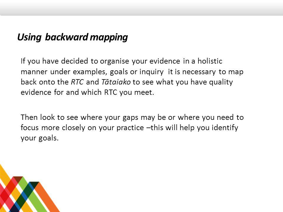 Using backward mapping
