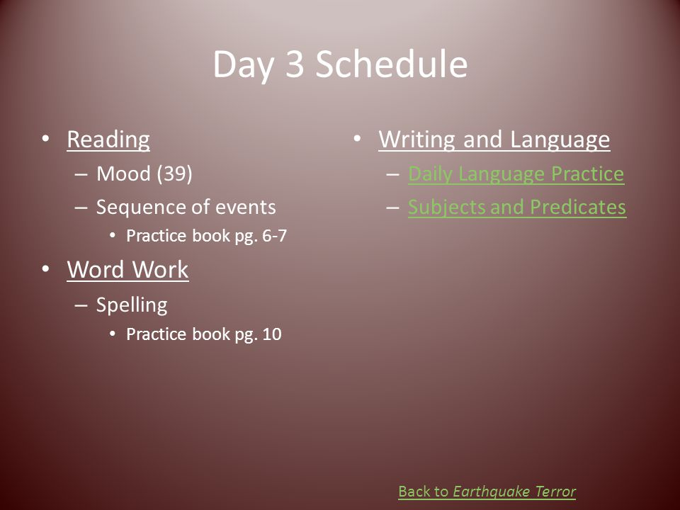 Day 3 Schedule Reading Word Work Writing and Language Mood (39)