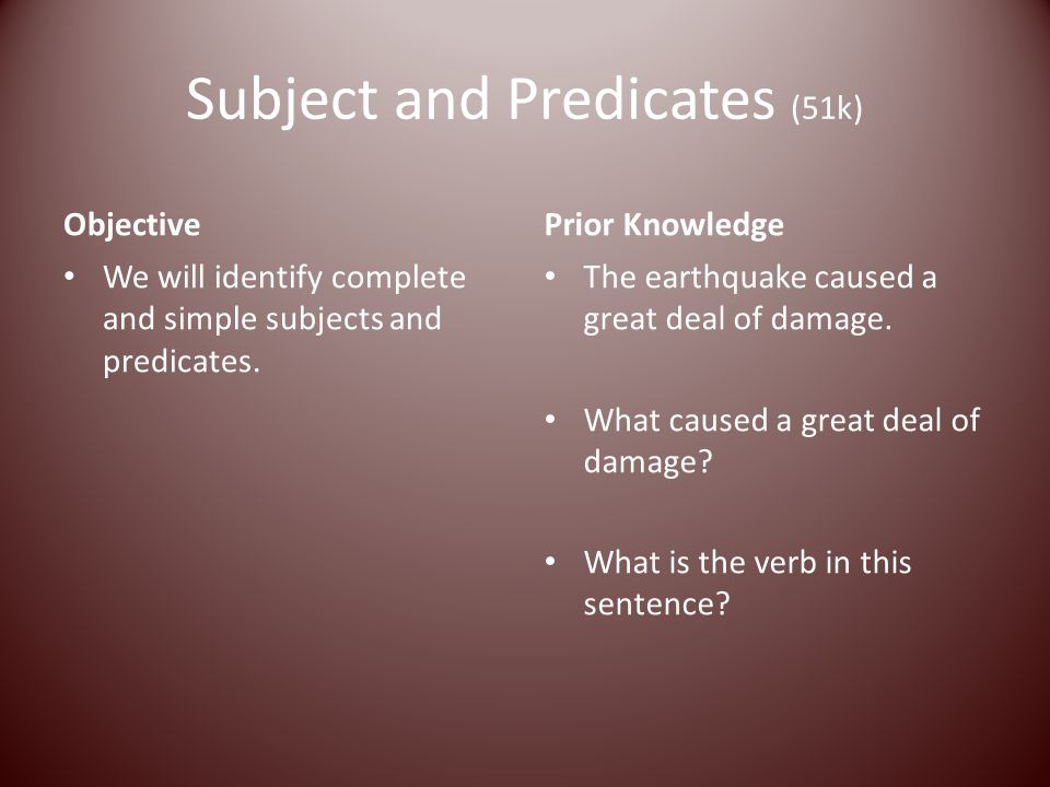 Subject and Predicates (51k)