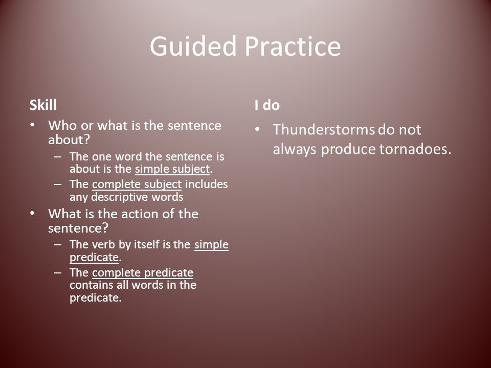 Guided Practice Skill I do