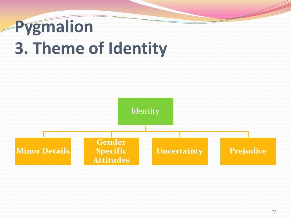 Pygmalion 3. Theme of Identity