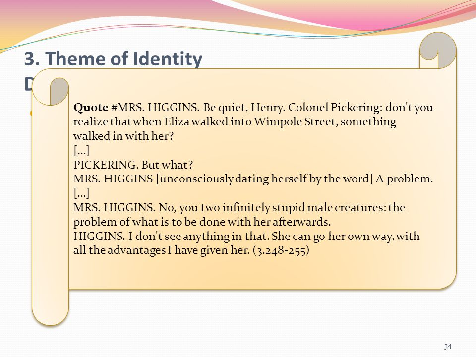 3. Theme of Identity Dramatic Reference | Multidimensionality