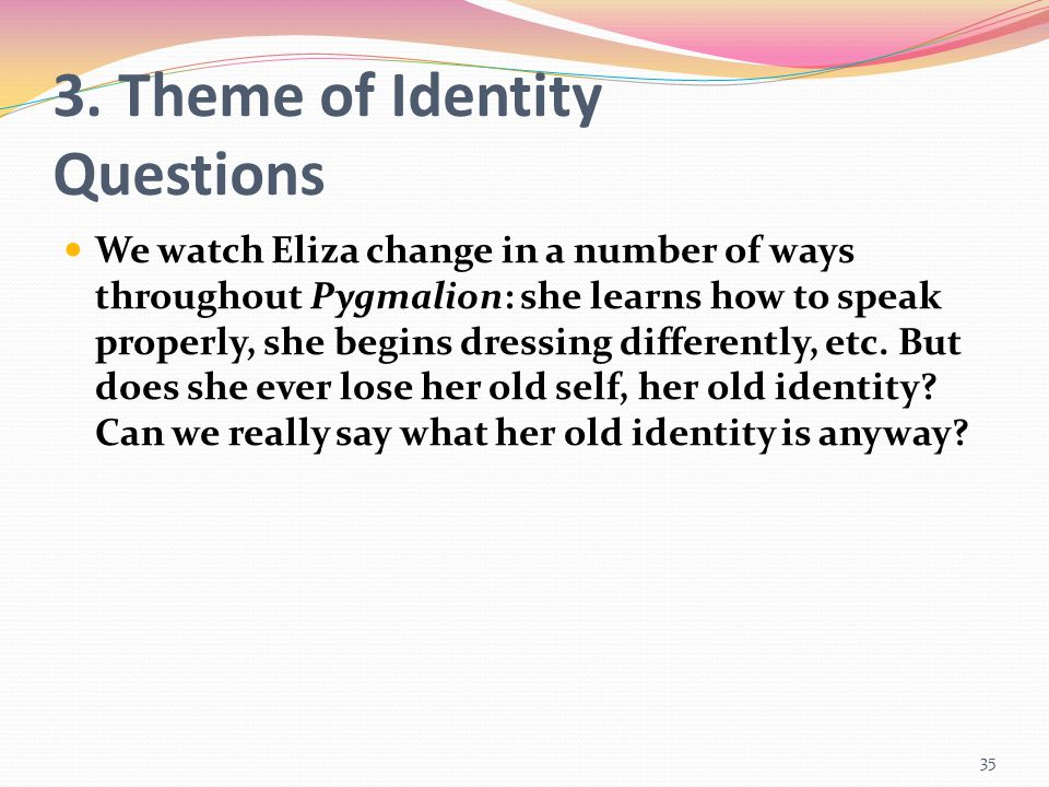 3. Theme of Identity Questions