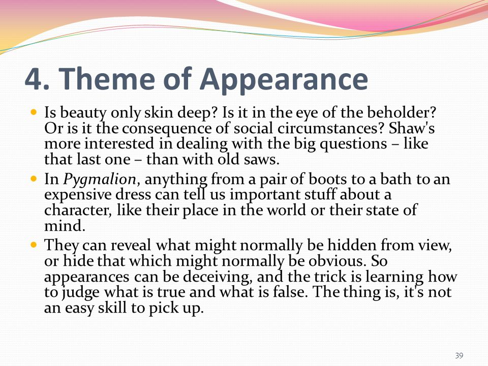 4. Theme of Appearance